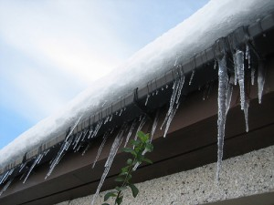 Solve the problem with icicles that hang from your gutter