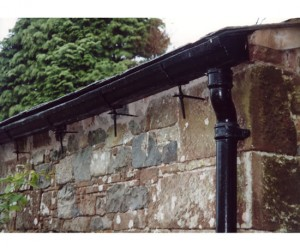 How to reattach the rain gutters permanently?