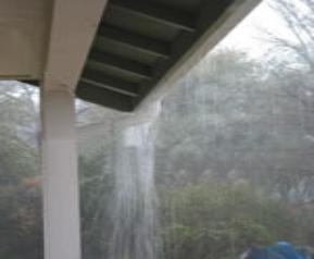 Gutters, What makes the gutter to overflow?