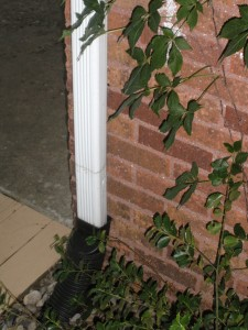 Instructions for burring a gutter downspout