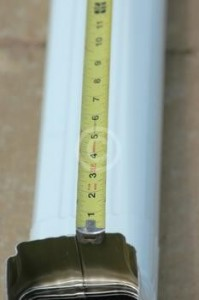 Instruções para medir calhas novas