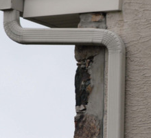 Instructions for installing an aluminum downspout