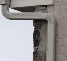 För installation av en aluminium-downspout