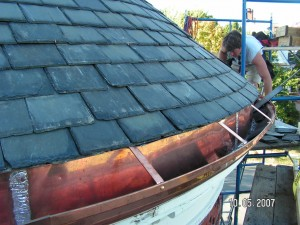 Instructions for soldering copper gutters