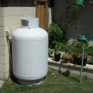 Information about setting a propane tank