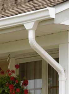 Learn to install vinyl rain gutters with pieces from the old gutter