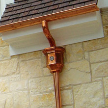 Instructions for extending a copper downspout