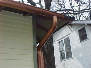 Instructions for installing a copper downspout