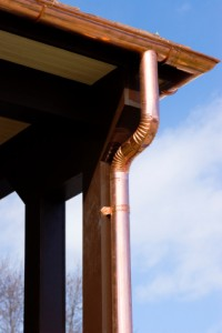 Instructions about cutting a copper downspout