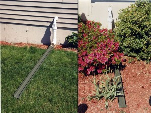 Instructions for extending an aluminum downspout