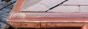 Instruções para a instalação de guardas da calha de cobre