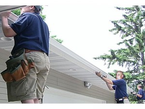 Instructions for preparing the installation of gutters