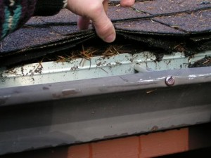Instructions for the removal of gutter flashing