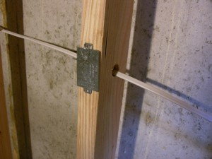 Protect The Wiring In A Wall With A Nail Plate