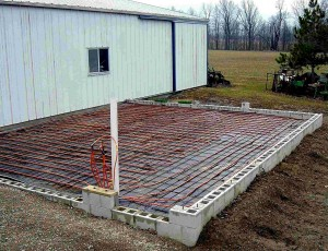 Instructions for installing a radiant floor heating system