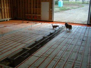 Instructions for installing a radiant floor heating system in a garage
