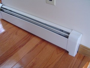 A few electric baseboard heaters types
