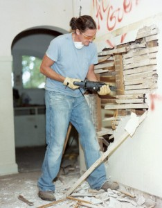 Instructions about tearing down a wall for an interior remodeling