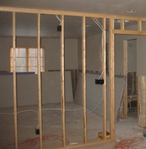 Information about constructing a load bearing stud wall