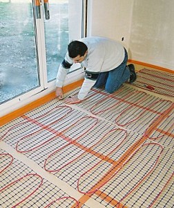 Instructions for repairing an in-floor heating system