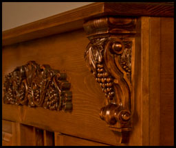 Instructions for fixing dents and cracks in wooden corbels