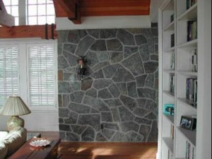 Learn to construct a stone interior wall