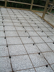 Instructions for pouring in floor heating slabs