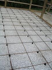 Instruktioner för att hälla i plattor golvvärme