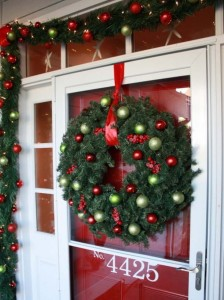 How to decorate the classroom doors for the Christmas holiday