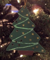 Instructions about creating craft foam Christmas ornaments