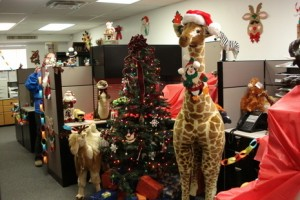 Ideas for decorating the office for Christmas