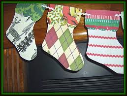 Making a paper Christmas stocking