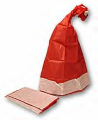 Learn to create paper hats for Christmas decorations