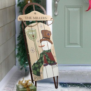 Traditional country Christmas decorations for sleds