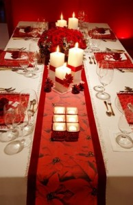Décorations pour la table de Noël