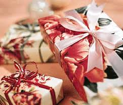 Use Christmas wrapping paper to decorate
