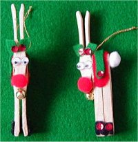Learn to create clothespin Christmas ornaments