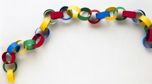 Learn to make a paper chain garlands for Christmas