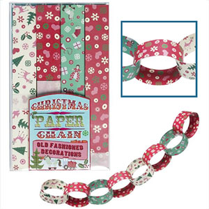 How to create paper chains for Christmas decorations