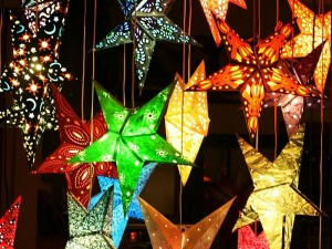 Star decorations for Christmas