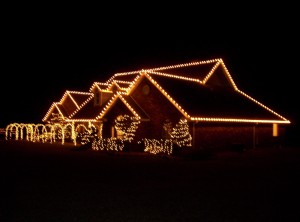 Safety measures for outside Christmas lights