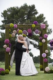 Creating flower pomanders for weddings
