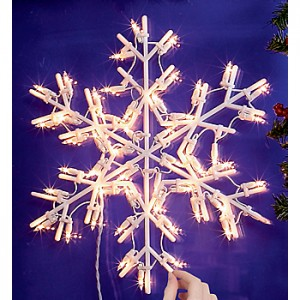 Christmas decorations, Learn to create rolling snowflake lights