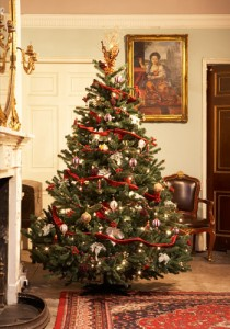 Kerstboom victoriaanse decoraties