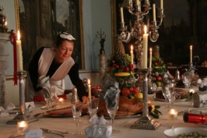 Dekorationen für einen traditionellen victorian christmas