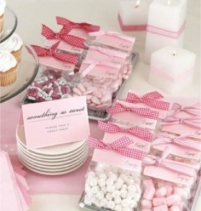 Favors for the wedding reception