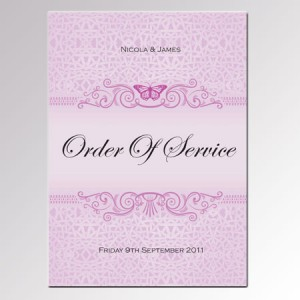 The order of service of a wedding ceremony