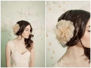 Düğün için kumaş saç çiçekler yapmak öğrenin