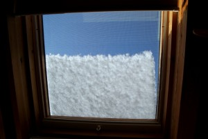 Keeping snow away from the skylight