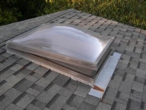 Learn to apply caulk on a plastic skylight